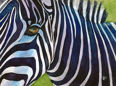 Zebra Painting - Zelda Zones Out by Marie Stone Van Vuuren