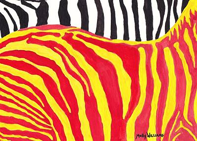 Abstract Zebra Painting - Zebra by Molly Williams