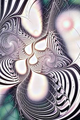 Purple Digital Art - Zebra Phantasm by Anastasiya Malakhova