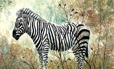 Zebra Painting - Zebra Study by Steven Schultz