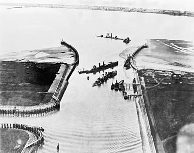 Belgium Photograph - Zeebrugge Raid by Underwood Archives