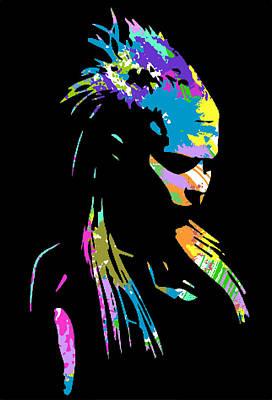 Rap Digital Art - zef 2014 Yolandi by Jera Sky