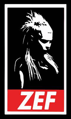 Rap Digital Art - Zef by Jera Sky