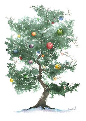 Zen Christmas Tree Print by Sean Seal