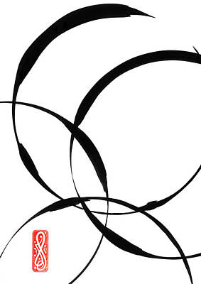 Random Painting - Zen Circles 2 by Hakon Soreide
