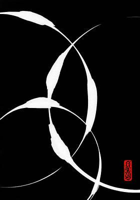Zen Circles 5 Inverted Print by Hakon Soreide