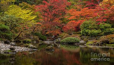 Fall Colors Photograph - Zen Garden Reflected by Mike Reid