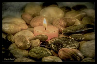 Peace Photograph - Zen Light Rock by LeeAnn McLaneGoetz McLaneGoetzStudioLLCcom