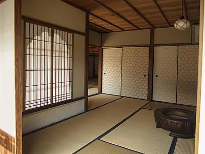 Tea Room Photograph - Zen Meditation Room And Katomado Window - Kyoto Japan by Daniel Hagerman