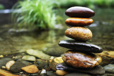 Candid Photograph - Zen Stones by Marco Oliveira