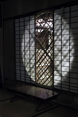 Bamboo Fence Photograph - Zen Temple Window - Kyoto by Daniel Hagerman