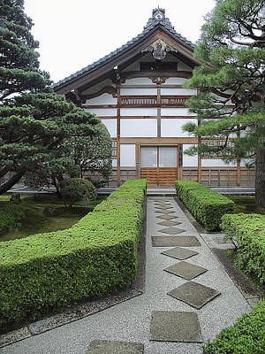 Bamboo House Photograph - Zen Walkway - Kyoto Japan by Daniel Hagerman