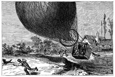 'zenith' Balloon Crash Print by Science Photo Library