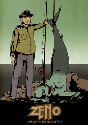Hellboy Digital Art - Zeno The Fisherman by Zeymar Olszewski