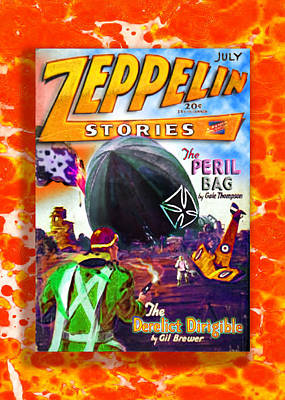 Robert Plant Digital Art - Zeppelin Stories Number 7 July 1929 by Del Gaizo