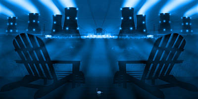 Pocket Digital Art - Zero Hour In Blue by Mike McGlothlen