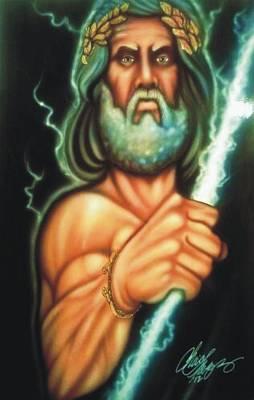 Zeus Print by Christopher Fresquez