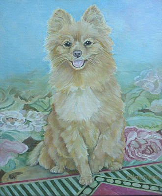 Toy Dogs Painting - Zeus by Kimberly McSparran