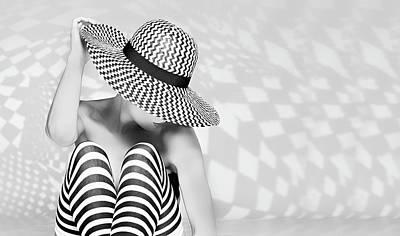Checkers Photograph - Zig The Zag by Howard Ashton-jones