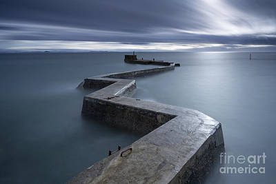 Stopper Photograph - Zig Zag Pier At St Monan's Fife Scotland by John Potter