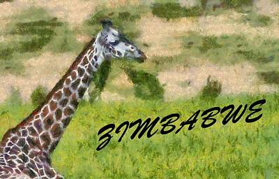 Giraffe Mixed Media - Zimbabwe by Dan Sproul