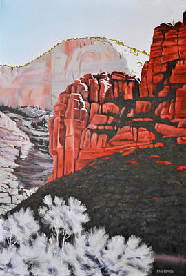 Phil Hopkins Painting - Zion Canyon  by Phil Hopkins