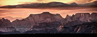 Sheer Photograph - Zion Cliffs by Leland D Howard