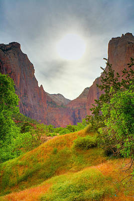 Sunset Photograph - Zion Sunset by Alexey Stiop