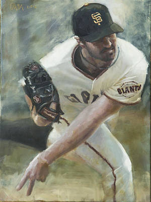 Baseball Art Painting - Zito Delivery by Darren Kerr