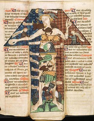 The Human Body Photograph - Zodiac Man by British Library
