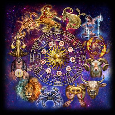 Zodiac Painting - Zodiac Montage by Ciro Marchetti