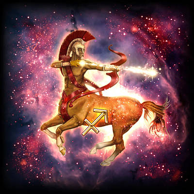 Zodiac Painting - Zodiac Sagittarius by Ciro Marchetti