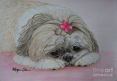 Small Dogs Painting - Zoe The Shih Tzu by Megan Cohen