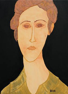 Painting - Zoe by Oscar Penalber