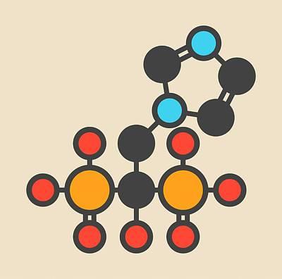 Zoledronic Acid Molecule Print by Molekuul