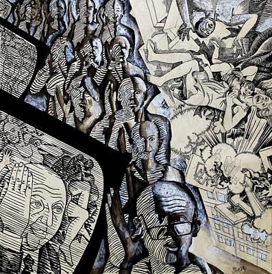 Democracy Drawing - Zombie Electorate by Ivan Koretnikov