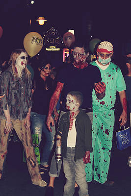 Blood Photograph - Zombies Everywhere by Laurie Search