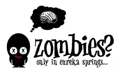 Eureka Springs Digital Art - Zombies In Eureka Springs by Jeff Danos