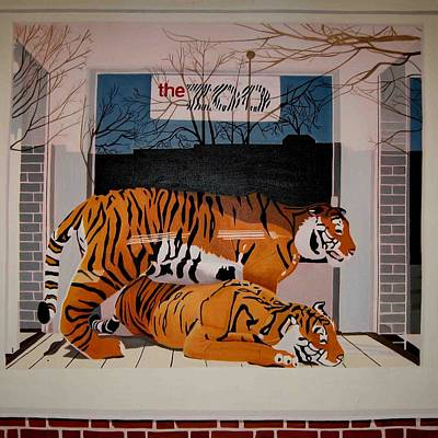 Hockney Painting - Zoo by Mark Schiff