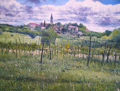 Painting - Zrenj Croatia by Enver Larney