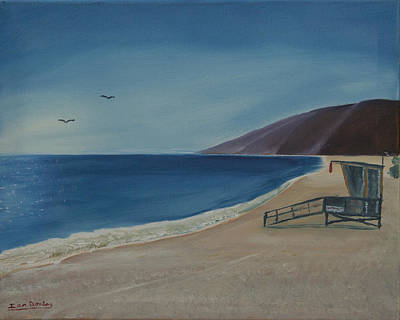 Malibu Painting - Zuma Lifeguard Tower by Ian Donley