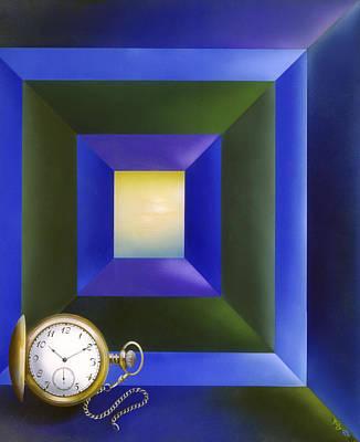 Reverse On Glass Painting - Zwischen Zeit Und Raum / Between Time And Space by Annelie Dachsel-Widmann