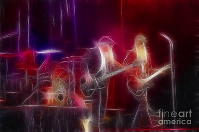 Zz Photograph - Zz Top-rhythmeen-c23-fractal by Gary Gingrich Galleries