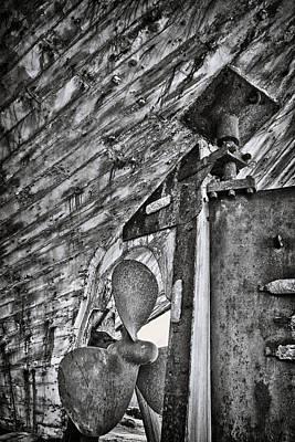 Boat Propeller Print by Stelios Kleanthous
