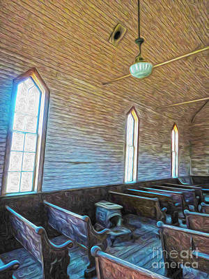 Bodie Ghost Town - Church 05 Print by Gregory Dyer