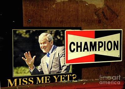 Champ Not Villain Print by Joe Jake Pratt