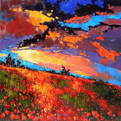 Poppies Field Painting -  Charlotte's Web. by Anastasija Kraineva