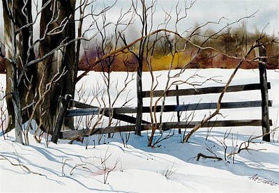 Fenced In Frost Print by Art Scholz