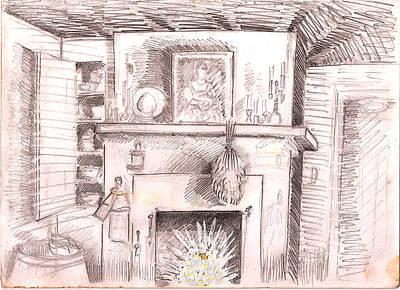 Behind The Scenes Drawing -  Frozen In Time by Al Goldfarb