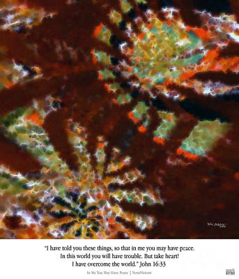 Worship God Painting -  In Me You May Have Peace. Christian Art Poster by Mark Lawrence